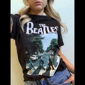 Small, The Beatles, black t shirt